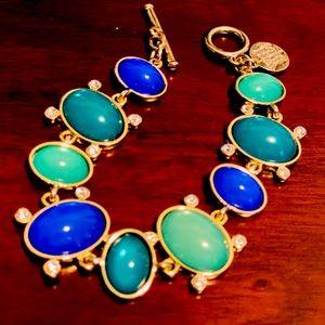 White House Black Market Green Blue Gold Bracelet